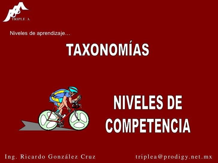Niveles de aprendizaje…<br />TAXONOMÍAS<br />NIVELES DE<br />COMPETENCIA<br />NTCL define otro método<br />Dime como me va...