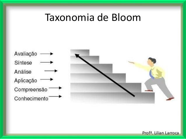 Profª. Lilian Larroca Taxonomia de Bloom