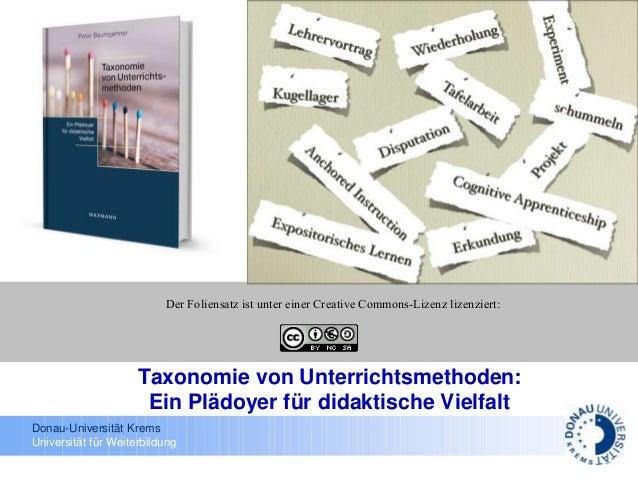 Donau-Universität Krems Universität für Weiterbildung Der Foliensatz ist unter einer Creative Commons-Lizenz lizenziert: T...