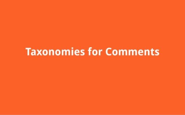 Taxonomies for Comments