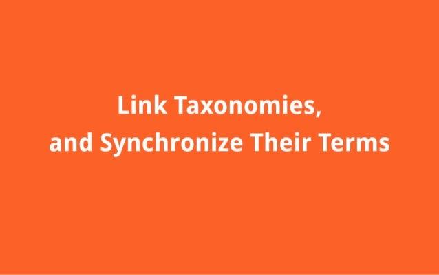 ileinlk Taxoinomies,  aindl Synchronize 'Their Terms