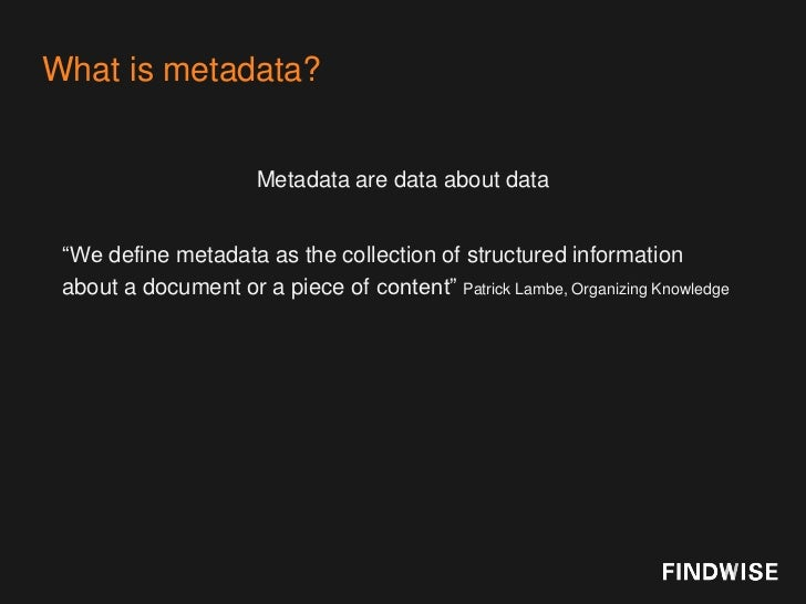 Taxonomy and Metadata Demystified Slide 2