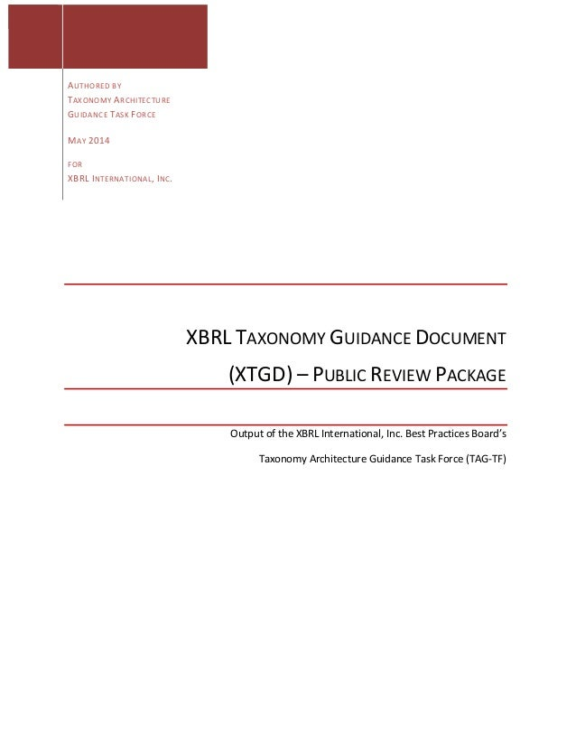 AUTHORED  BY   TAXONOMY  ARCHITECTURE   GUIDANCE  TASK  FORCE    ...
