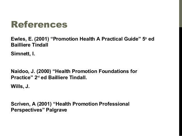 foundations for health promotion naidoo pdf