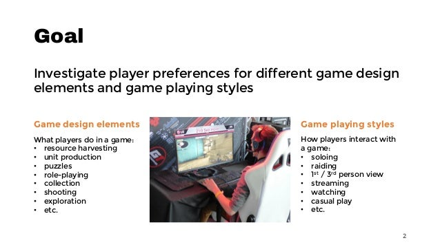 A Framework and Taxonomy of Videogame Playing Preferences (CHI PLAY 17) Slide 2