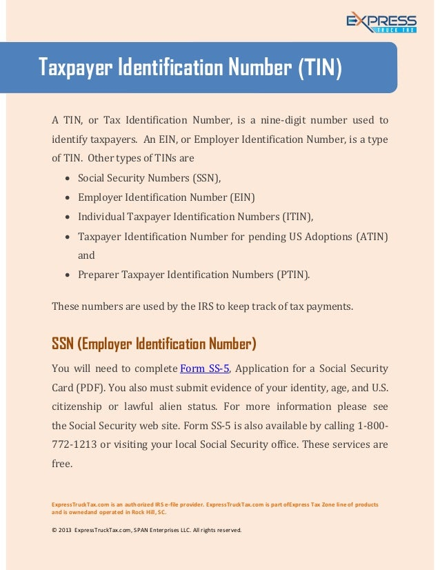 Apply for a Tax ID