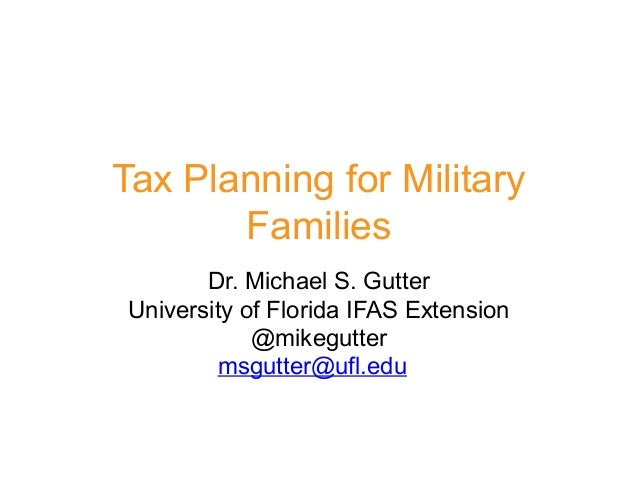 Tax Planning Updates For Military Families