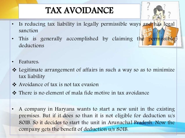 tax planning and tax avoidance analysis Tax planning: what is legally acceptable linkedin at current legislation and distinguishes between tax mitigation and tax avoidance tax planning is a.