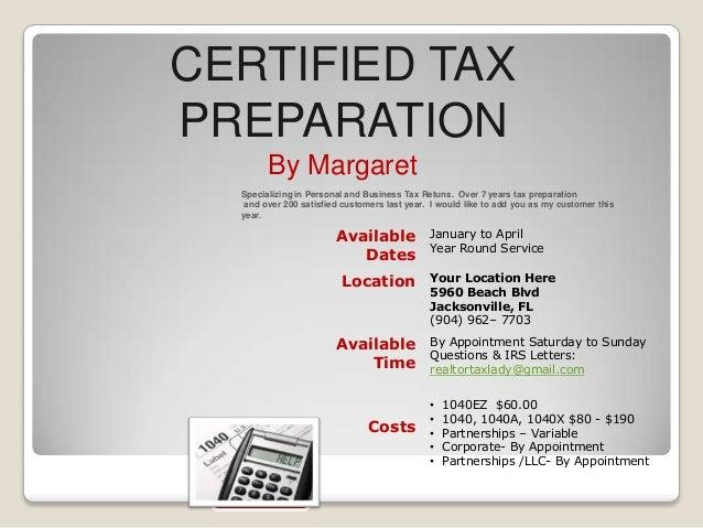 Tax Preparation Flyer