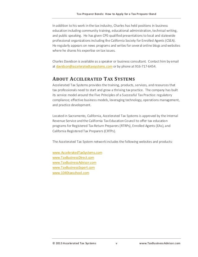 Tax Preparer Bonds: How to Obtain a California Tax ...