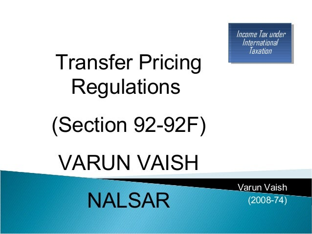 transfer pricing in india essay This article is written like a personal reflection or opinion essay that states  the india-singapore dtaa at  of economic double taxation in transfer pricing.