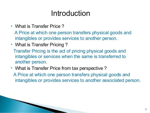 transfer pricing What is transfer pricing transfer pricing refers to the prices established between related entities (members of the same multi-national enterprise) for the exchange.