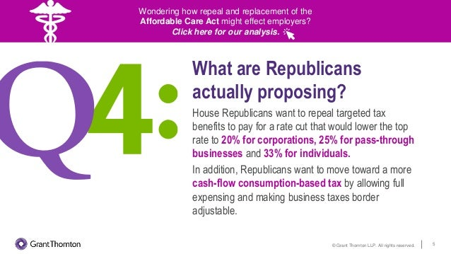 Is tax reform really happening? Answers to 8 key tax reform questions