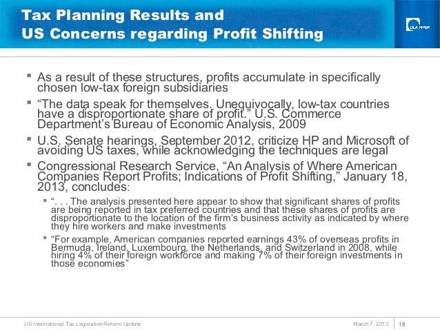 Us international tax legislative reform update oecd beps - Bureau of economic analysis us department of commerce ...