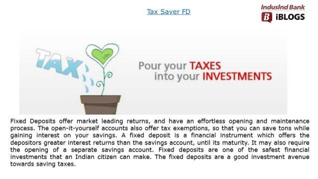 Tax Saver FD