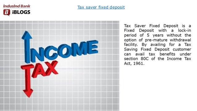 Tax saver fixed deposit