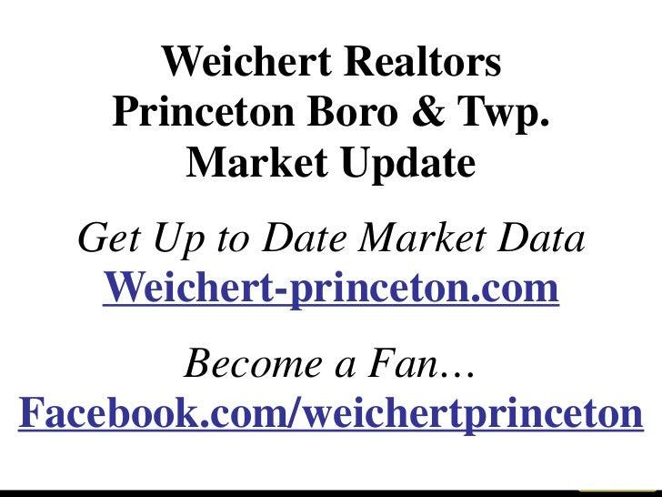 <ul><li>Weichert Realtors </li></ul><ul><li>Princeton Boro & Twp. </li></ul><ul><li>Market Update </li></ul><ul><li>Get Up...
