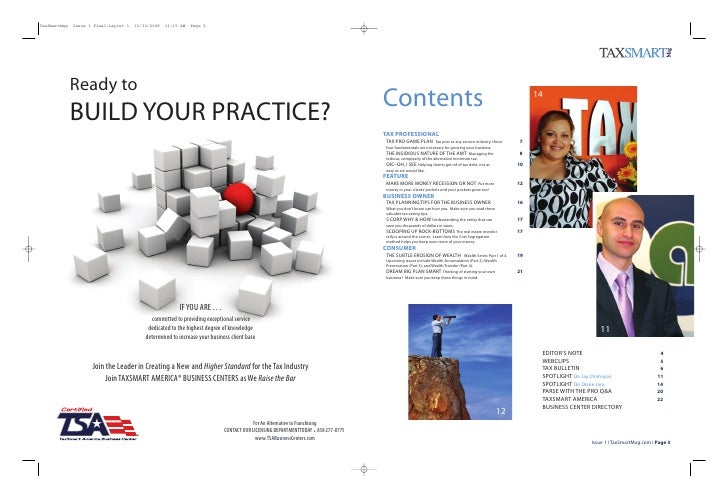 TaxSmartMag   Issue 1 Final:Layout 1   12/30/2008   11:15 AM   Page 2              Ready to                               ...