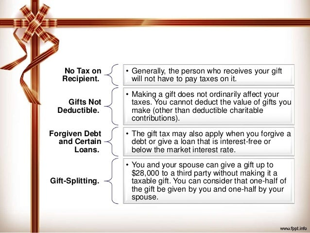 Tax tips to help you determine if your gift is taxable