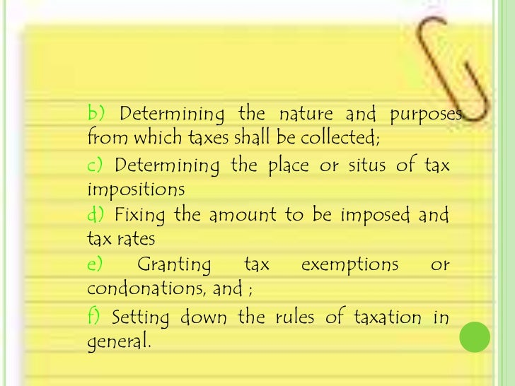 nature of the power of taxation
