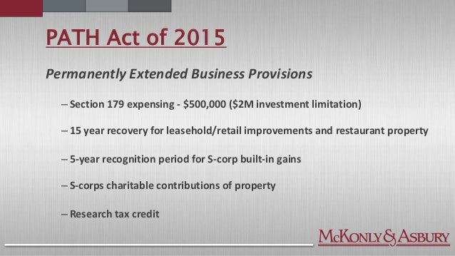 Tax Update: 2016 & Beyond