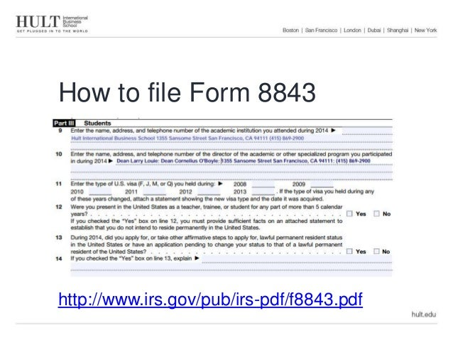 Tax workshop how to file form 8843 (1)