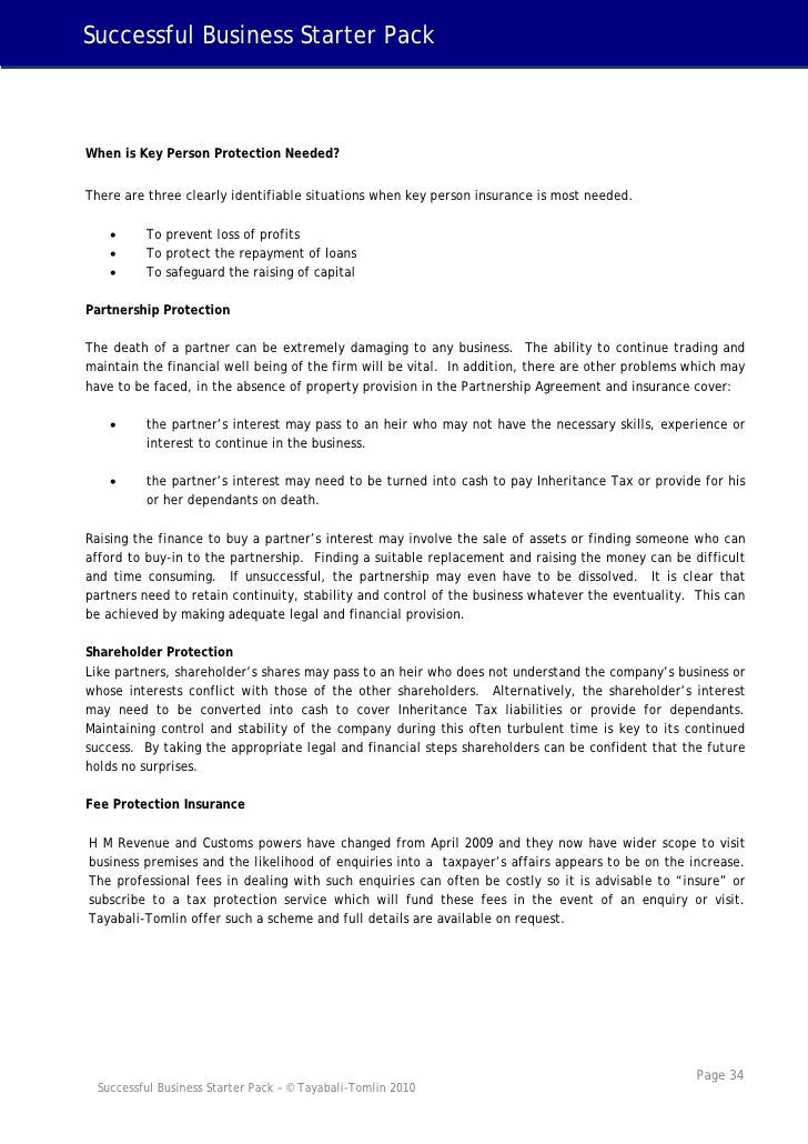 Tayabali Tomlin Successful Business Starter Pack 2010