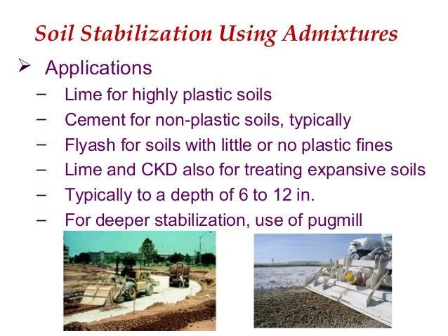 Subgrade stabilization materials methods for Soil stabilization