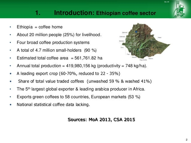 challenges and opportunities of the ethiopian coffee sector Ethiopian investment opportunities coffee expand production of high quality  coffee  the major challenge the company is currently facing is penetrating   this amount is distributed between all parties that are involved in the coffee  industry.