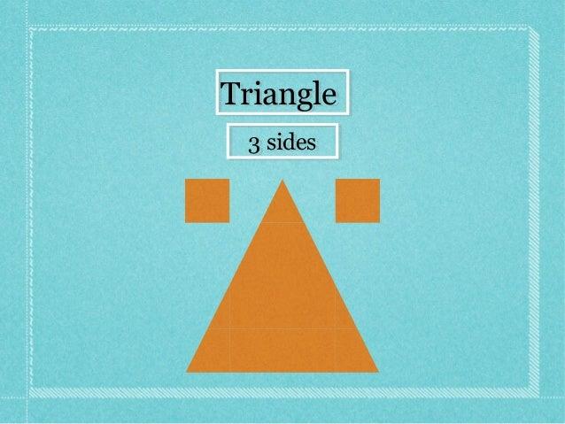 TriangleTriangle 3 sides3 sides