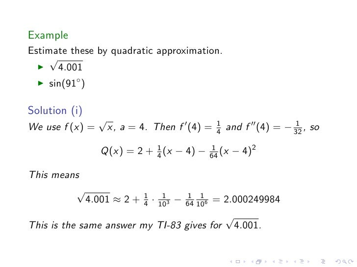 Taylor Polynomials And Approximations Homework Assignments - image 11