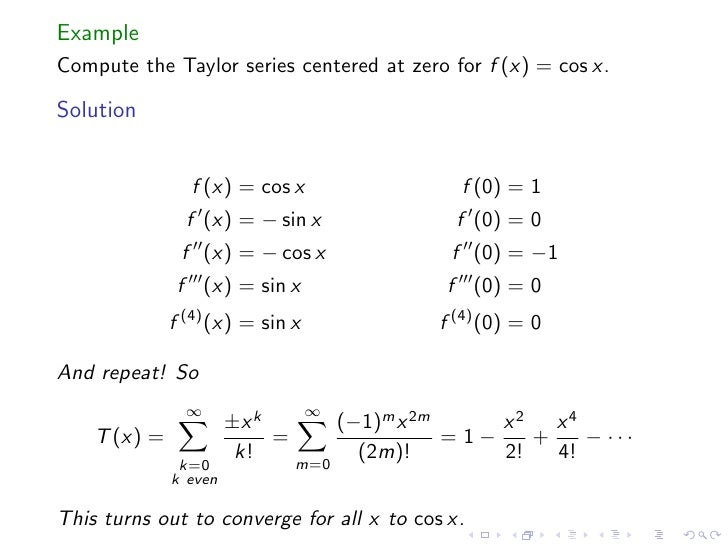 derivation of taylor series pdf