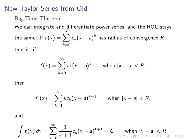 Taylor Polynomials and Series
