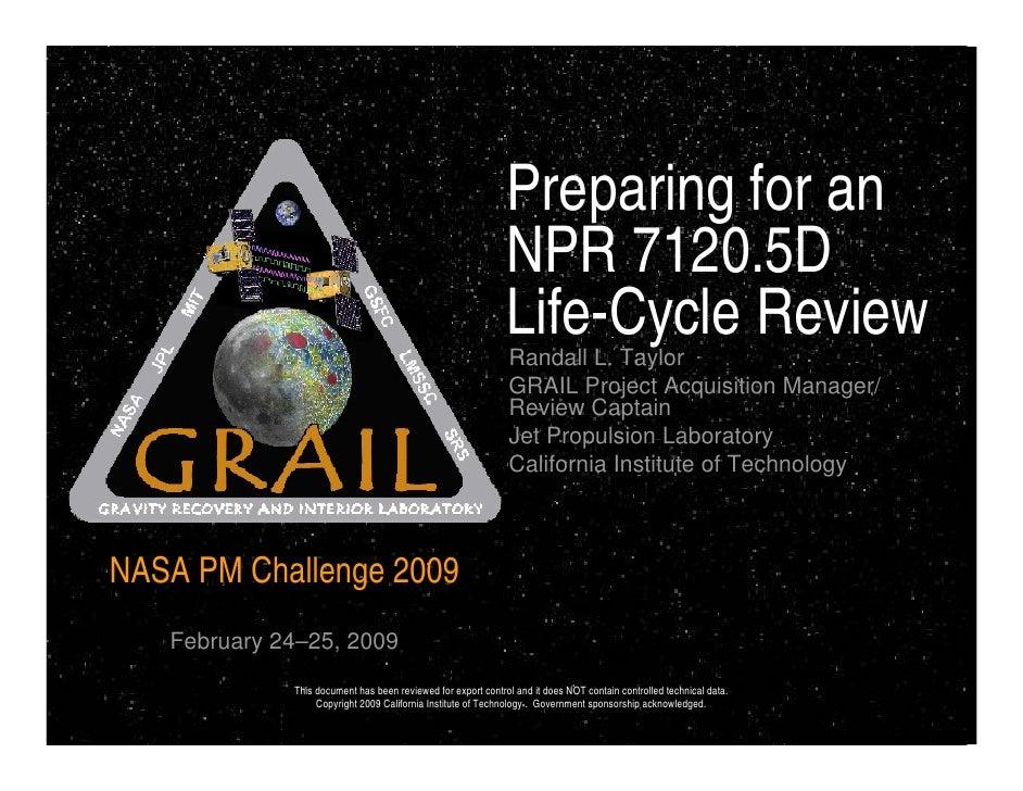 Preparing for an                                                              NPR 7120.5D                                 ...