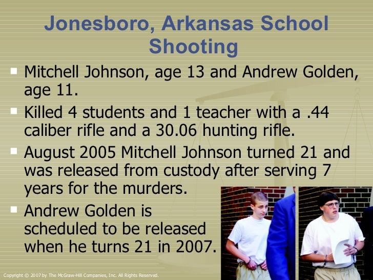 Jonesboro Shooting Golden