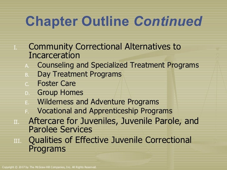 Juvenile probation and community based corrections essay