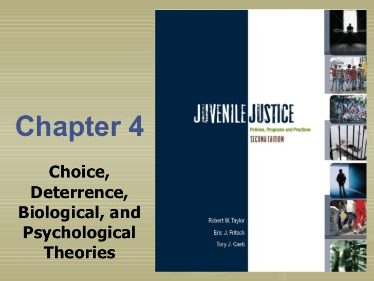 Chapter 4 Choice, Deterrence, Biological, and Psychological Theories