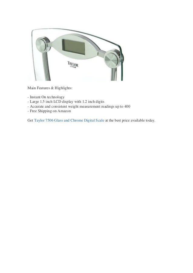 Taylor Model 7506 Glass Electronic Bath Scale Review