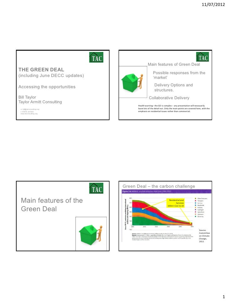 11/07/2012                                                 Main features of Green DealTHE GREEN DEAL                      ...