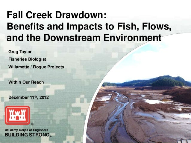 Fall Creek Drawdown: Benefits and Impacts to Fish, Flows, and the Downstream Environment  Greg Taylor  Fisheries Biologist...