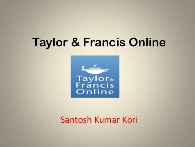 Taylor & Francis Online    Santosh Kumar Kori