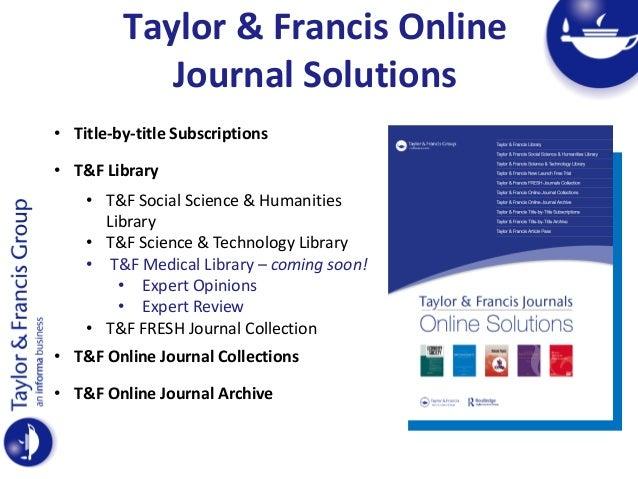 Taylor & Francis: Understanding User Needs