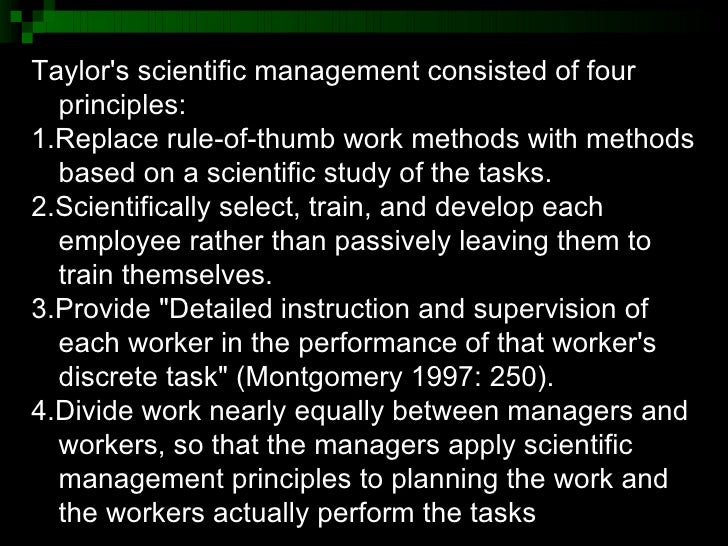 Scientific Management and Taylorism