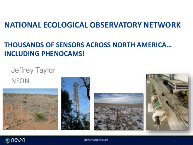 NATIONAL ECOLOGICAL OBSERVATORY NETWORK THOUSANDS OF SENSORS ACROSS NORTH AMERICA… INCLUDING PHENOCAMS! Jeffrey Taylor NEO...