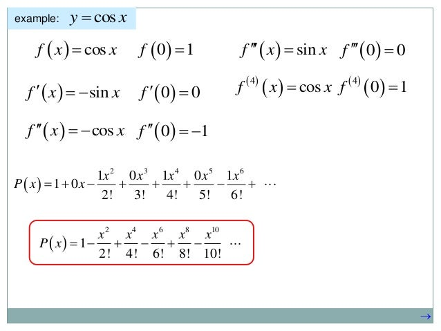 Taylor Series In 1 And 2 Variable