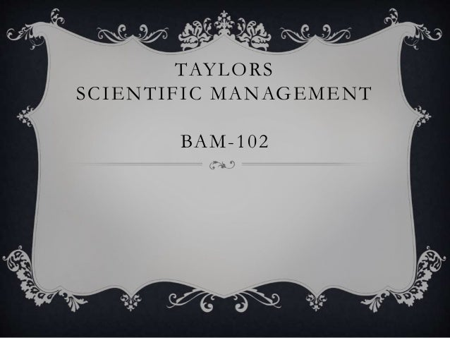TAYLORS SCIENTIFIC MANAGEMENT BAM-102