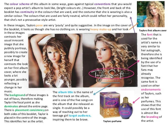Taylor Swift Fearless Album Booklet