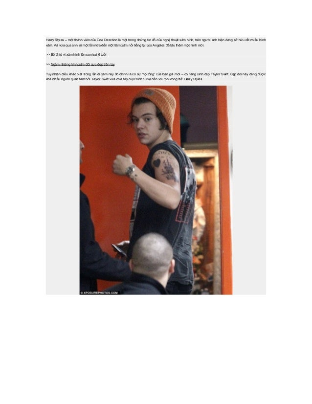 Harry Styles – một thành viên của One Direction là một trong những tín đồ của nghệ thuật xăm hình, trên người anh hiện đan...