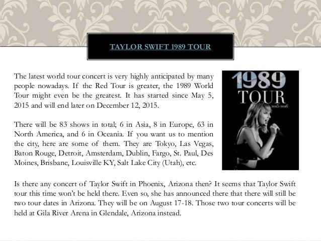 Taylor Swift Tour 2015 Slide 2