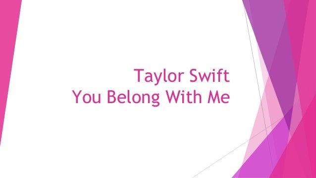 Taylor Swift You Belong With Me Lyrics Analysed